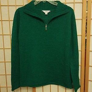 Indigo Green Top, Pullover Sweater. M